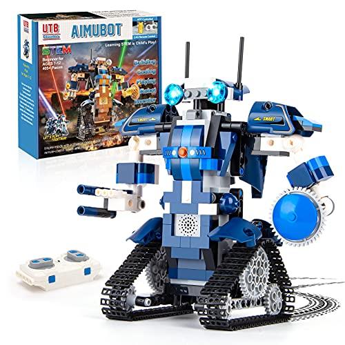 Roboter Bausatz Programmierbarer and ferngesteuerter 405 Teile per APP und Fernbedienung Technik Spielzeug Geschenk ab 7 Jahren für Jungen