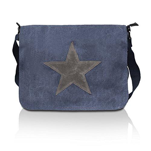 Glamexx24 Tasche Handtaschen Schultertasche Umhängetasche mit Stern Muster Tragetasche TE201620, 23109 Blau, Einheitsgröße