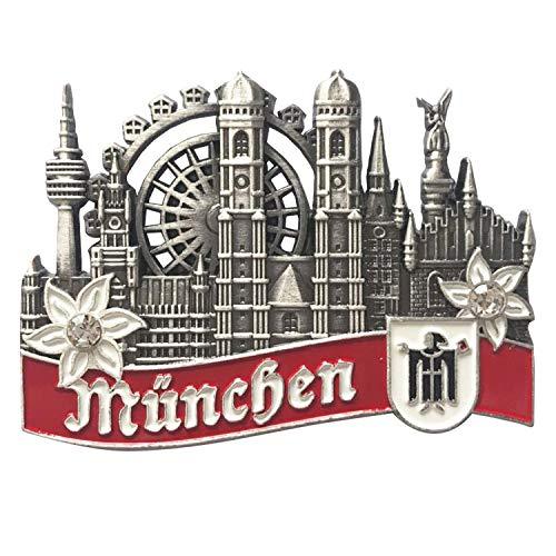 Kühlschrankmagnet Metall München 8x6,5cm