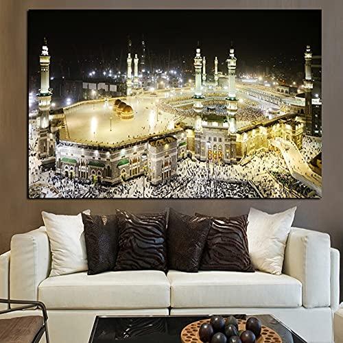 Puzzle 1000 piezas Meca-Islam-Paisaje-Sagrado-Edificio Religioso-Mezquita-Musulmana puzzle 1000 piezas educa Rompecabezas clásico kit de bricolaje juguetes de madera rega50x75cm(20x30inch)