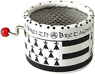 Magnet Aimant Frigo 3.8cm Drapeau Breton Bretagne Hermine Brezhoneg Celte Celtique Noir Blanc