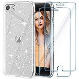 YIRSUR Custodia compatibile con iPhone SE 2020 + 2 X vetro temperato iPhone 7/8 Custodia Case Trasparente...