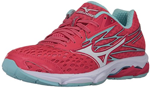Mizuno Women's Wave Catalyst 2 Running-Shoes,Paradise Pink/White/Clearwater,7 B US