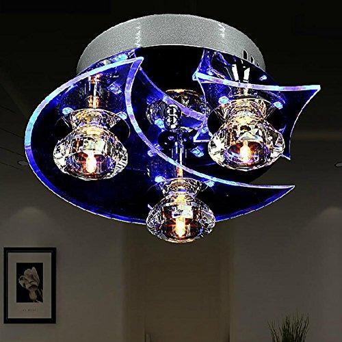 OOFAY TAPS Éclairage créatif Salle à Manger Salle à Manger Lustre Mode Chambre Lampe personnalité Lune LED allée plafonniers, 3
