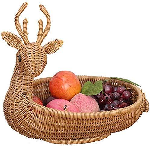 CHNGP Beautiful Fruit basket Fruit and vegetable basket Schoonmaakmand Woonkamer Koffietafel Kleine mand met vers fruit Grote mand gevlochten