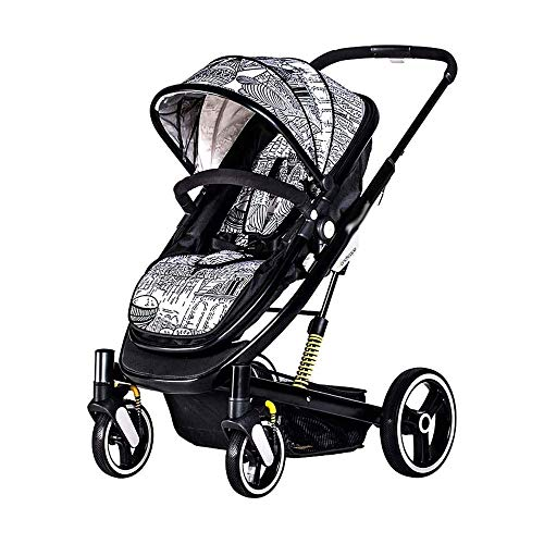 WRJY Smooth Ride Travel System with Car Seat 2 in 1 Foldable Infant Buggy Two-Way 360°Swivel Front Wheel Suitable (Color : C)