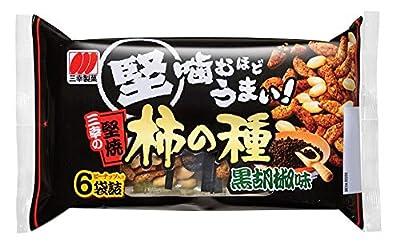 三幸製菓 三幸の堅焼柿の種 黒胡椒味 182g