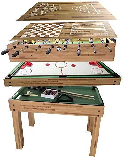 JODELA Game Table with Foosball Table Pool Table Slide...