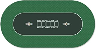 GAMELAND 35 x 70 Inch Portable Rubber Foam Poker Table Top Layout Poker Mat