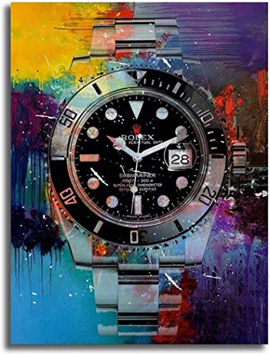 Lienzo De Impresión Sin Marco 50x70cm Arte de pared impresa en HD Pintura colorida del reloj Decoración del hogar para la decoración del dormitorio