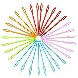 30 agujas de coser de plástico de Wowot. Ideales para niños, de 9 cm para su uso en...