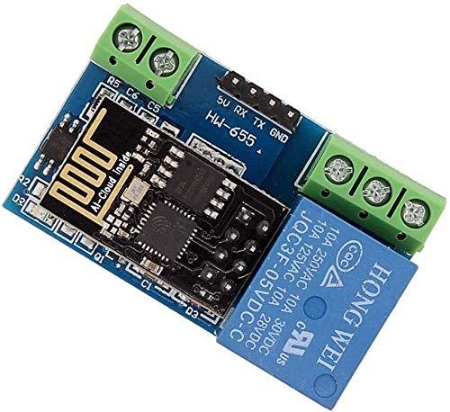 FORETTY DIANLU43 ESP8266 5V WiFi Módulo de relevo Internet de Las Cosas Interruptor de Control del Interruptor de Control Remoto del Control Remoto del Control Remoto Rendimiento Estable