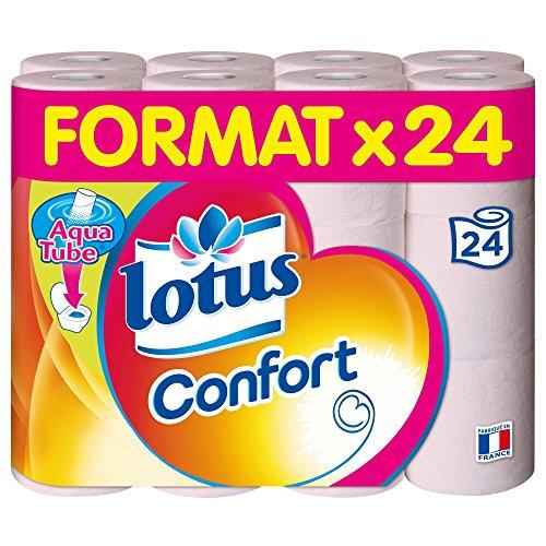 Lotus Confort Papier Toilette 2 Épaisseurs Rose,...