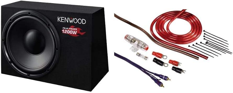 Kenwood Ksc W1200b Subwoofer Boss Audio Kit2 8 Gauge Elektronik