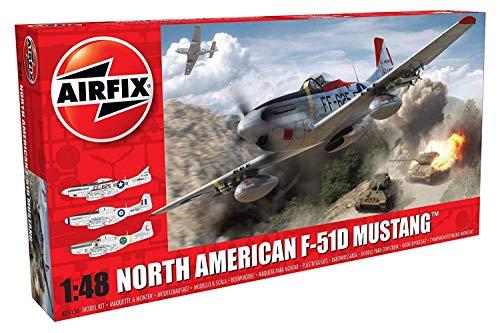 Airfix A05136 1/48 Modellbausatz North American F51D Mustang, grau