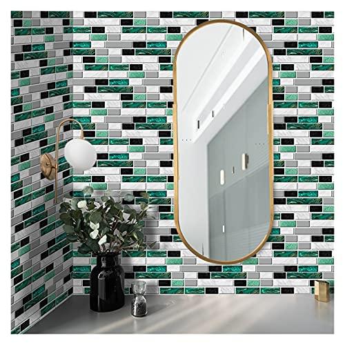 Vinilos para azulejos de pared 20x10cm Etiqueta de la pared DIY Decorativo Económico ecológico PVC Pegatinas de azulejos para baño Cocina Piso de pared Aislamiento térmico