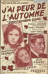 J\'ai peur de l\'automne / September song - Du film Paramount Les amants de Capri - Jean Sablon, Paulette Rollin, Jacqueline François