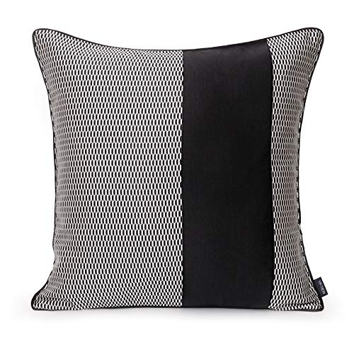 Cushion Covers Splice Bedroom Sofa Decoration Square Pillowcase Black And White 50X50Cm Without Core
