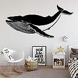 Pegatina de pared de tiburón creativo para habitación de niños, decoración de pared de vinilo para habitación, decoración de sala de estar, Mural, pegatina de pared A7 L 43x86cm