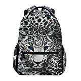 Mnsruu Leopard Print Animal Mochila Daypack Escuela Escuela Viaje Bolsa de Hombro