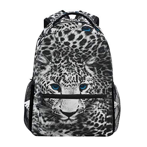 Mnsruu Leopard Print Animal Mochila Daypack Escuela Escuela Viaje Bols