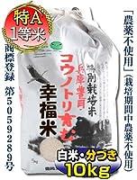 【当日精米】 お米 10kg コシヒカリ 3分づき 5kg×2 農薬不使用 特別栽培米 兵庫県 但馬産 コウノトリ育む幸福米 特A 一等米 令和元年産米