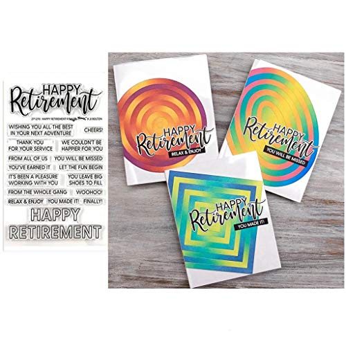 Happy Retirement Silicone Stamps Dies Stencil for DIY Cards Scrapbooking Embossing Stamping Paper Craft