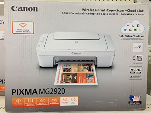 Canon PIXMA MG2920 Wireless Inkjet All-in-One Printer/Copier/Scanner