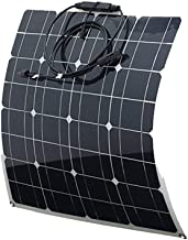 Huashao 50W Semi-Flexible Solar Panel, High Efficiency Single Crystal Panel Photovoltaic Module, Suitable for RV, RV, Caravan, Camper Or Off-Grid 12V PV System on Board