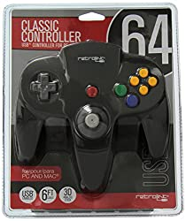 Retrolink Nintendo 64 Classic USB Enabled Wired Controller for PC and MAC