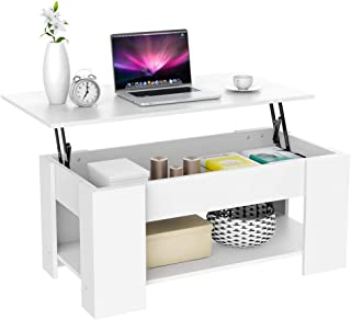 Topeakmart Adjustable Lift Top Coffee Table w/Hidden Compartment - Storage Cabinet for Living Room Reception