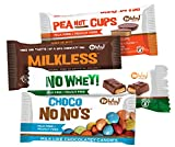 No Whey Foods - Four Pack Favorite Sampler (Milkless bar, Choco No No's, Peanot Cups, No Whey Bar) Vegan/Allergy Friendly Chocolate Candy; Dairy Free, Peanut Free, Nut Free, Soy Free, Gluten Free