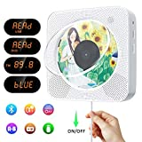 Portable CD/DVD Player with Bluetooth,Wall Mountable CD DVD Player HDMI Built-in HiFi Speaker