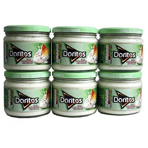 Walkers Doritos Coole Sour Cream & Schnittlauch Dip (300 g) - Packung mit 6