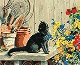 Nonebranded Pintura Al Óleo Manualidades para Pintar Hermoso Gato Animal DIY Pintura por Numeros Adultos Niños Cuadro Lienzo 40X50Cm
