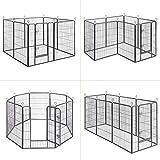 Songmics 8-tlg Welpenauslauf für Hunde Kaninchen und Andere Kleine Haustiere 80 x 100 cm (B x H) Grau PPK81G - 3