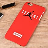 TN CASES STORE Coque iPhone 6+ Plus Supreme Jordan Air Rouge Plastique Rigide