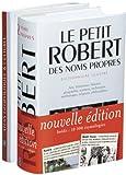 Coffret Petit Robert des noms propres 2004 et Atlas