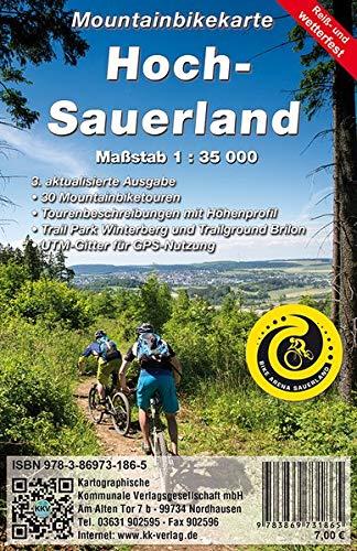 Mountainbikekarte Hoch-Sauerland: MTB - Hochsauerland (Reiß- und Wetterfest)