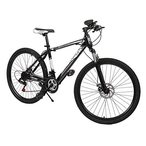 Nachar 26-Inch 21-Speed Mountain Bike High Carbon Steel Aluminium Alloy Outdoor Bicycle For Daily Use Trip Long Journey (Black+white 1)