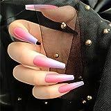 Taille: 12 tailles de faux ongles différentes, taille appropriée de l'ongle de couverture complète qui s'adapte à chacun de vos doigts (total de 24 pièces) Les pointes des ongles Fashion Fasle sont fabriquées avec un matériau ABS, non toxique, sans o...