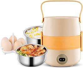 ZOUJUN Pot électrique, Boîte électrique Déjeuner Chauffage d'appoint Déjeuner Amovible en Acier Inoxydable Contenant à Cha...