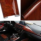 CviAn Adesivo in vinile lucido con venature del legno per auto, fai da te, adesivo permanente