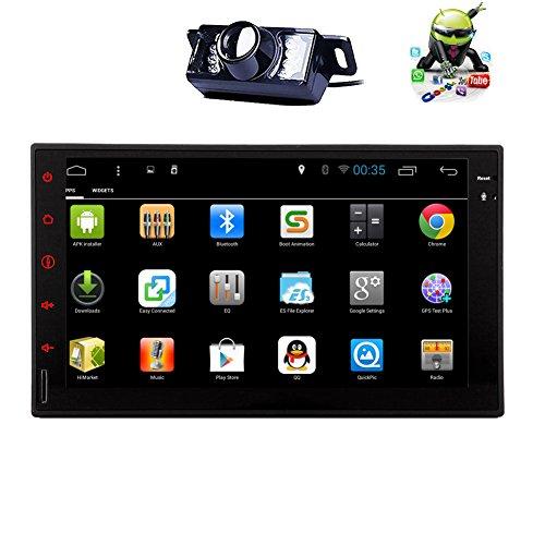 cam/¨/¦ra de recul sans fil offert Android 5.1 Bluetooth st/¨/¦r/¨/¦o audio din double 7inch avec GPS Navigation PC voiture Tablet Quad-core din CPU doulbe 7inch Eincar Autoradio FM AM RDS soutien aux navigateur WIFI 3G OBD2 Vola