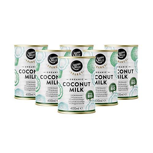 Amazon-Marke: Happy Belly Select, Bio-Kokosmilch zum Kochen, 6 x 400 ml