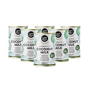 Marca Amazon –Happy Belly Select Leche de coco orgánica selecta para cocinar, 6x400ml