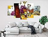 JIONGJIONG Modern Bild Wandbilder Kunstdrucke 5 Teilig Hd