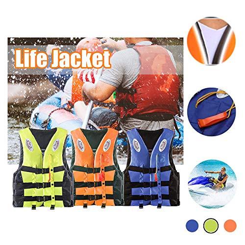 Bosji dult, Kayak PFD Life Jackets, Jet Ski L-XXXL Plus Size Swimming Equipment Life Jacket Stearns for Buoyancy Fishing Boating Watersport Men Women (Yellow, L)