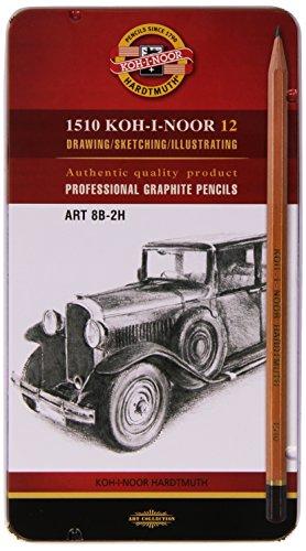 KOH-I-NOOR Bleistifte Härte 8B 7B 6B 5B 4B 3B 2B B HB F H und 2H Graphitstifte Bleistift Set