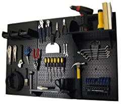 Wall Control metal pegboard is more than 10 times stronger than conventional pegboard Pegboard accepts conventional 1/4in pegboard pegs and accessories Pegboard accepts Wall Control slotted tool board pegs and accessories Pegboard tool boards mount d...